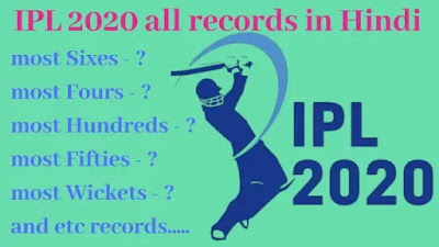 IPL 2020 All Records In Hindi PDF - GyAAnigk