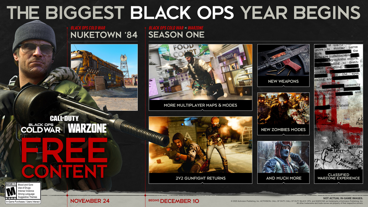 Call of Duty: Black Ops Cold War - Season 1 Details