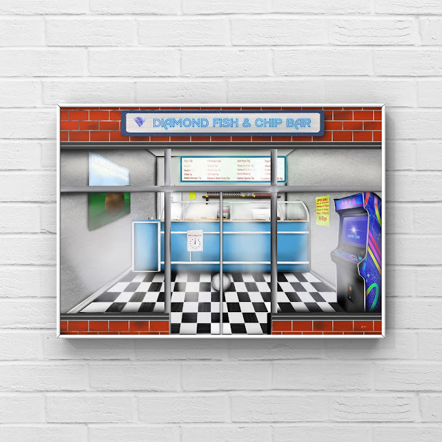 fish and chip shop artwork by Mark Taylor