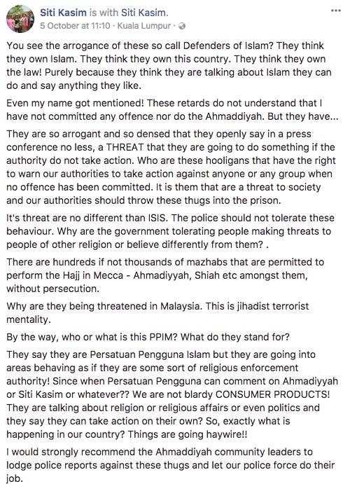 """Siapa Atau Apa PPIM Ni?"" – Siti Kasim"
