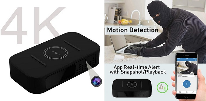 Wireless Charger Spy Cam