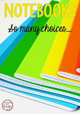 School Supplies: If composition notebooks are on your list, get the plain ones, with lined pages, and no characters on the front. Check this blog post to find out why!