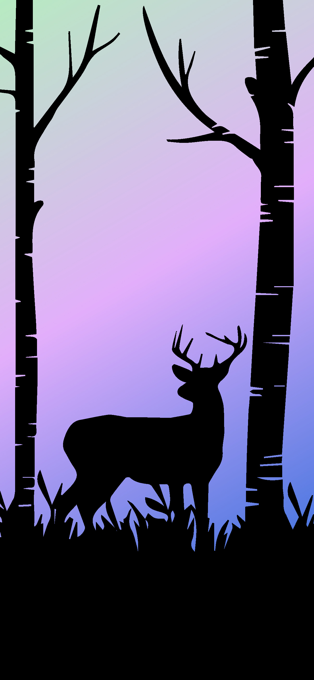AMOLED DEER FOREST WALLPAPER IPHONE HD