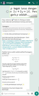 roboguru Ruangguru, Bantu Bahas Soal via Whatsapp
