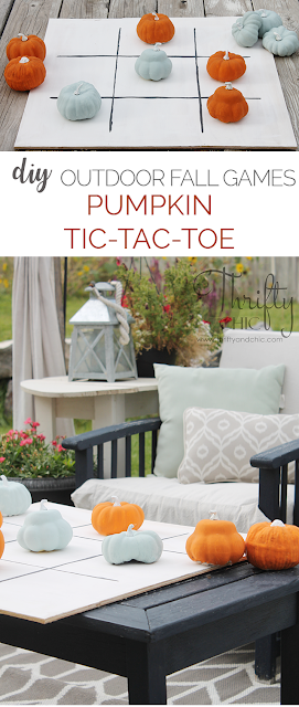 DIY outdoor games for fall. Perfect Fall outdoor games. Outdoor game tutorials. DIY pumpkin Tic-tac-toe