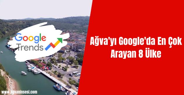 Ağva'yı Google'da En Çok Arayan 8 Ülke
