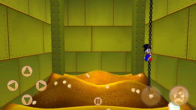 Wnętrze komory skarbca w grze Duck Tales: Remastered