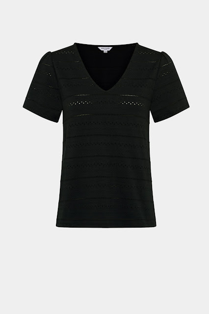 Great Plains, Pointelle Stripe T-Shirt