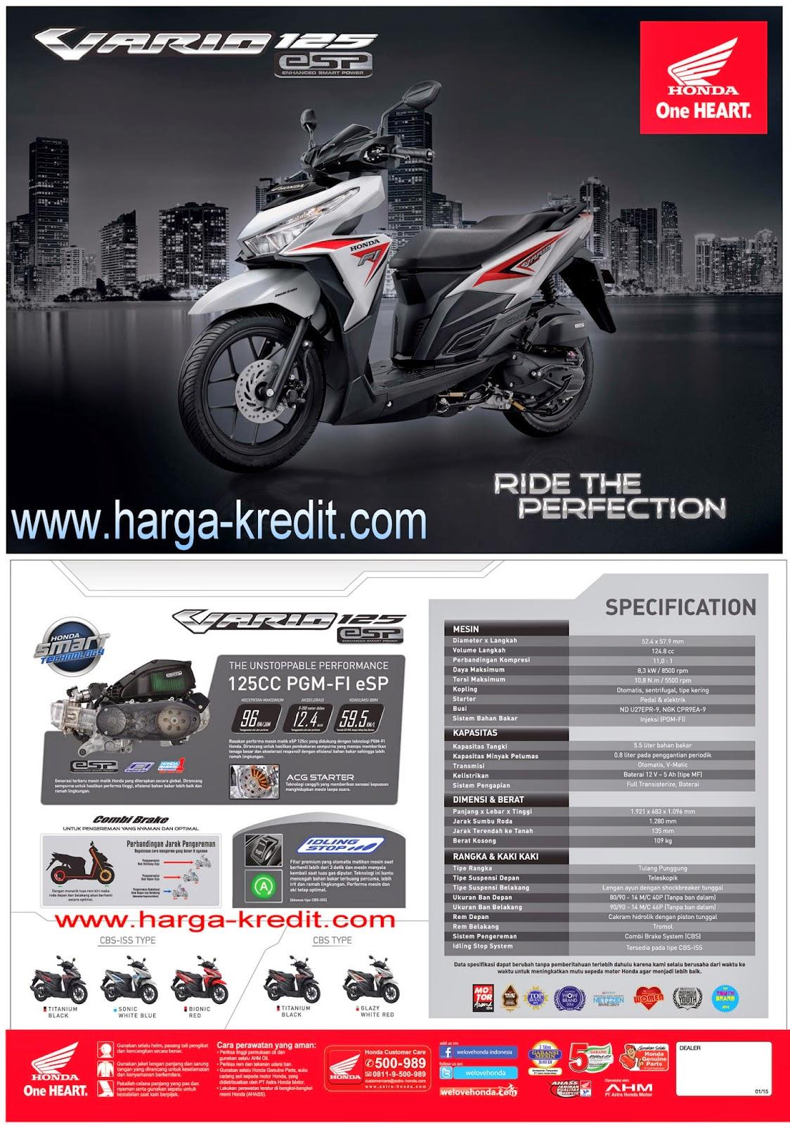 Kredit Motor Honda Termurah Di Bekasi New Vario 125 Esp Cbs Titanium Black Solo Dealer Baru Yamaha Khusus Jakarta Bogor