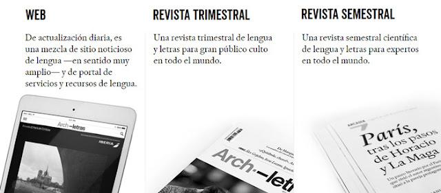 Archiletras, web y revistas
