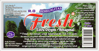 Cetak Sticker Air Mineral