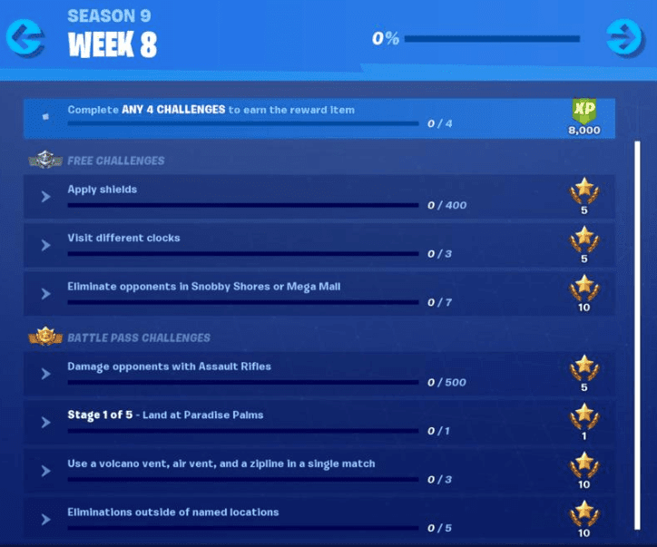 Fortnite Season 9 Week 8 Challenge : Where To Visit Different Clocks In Fortnite