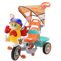 family maskot kipas angin tricycle