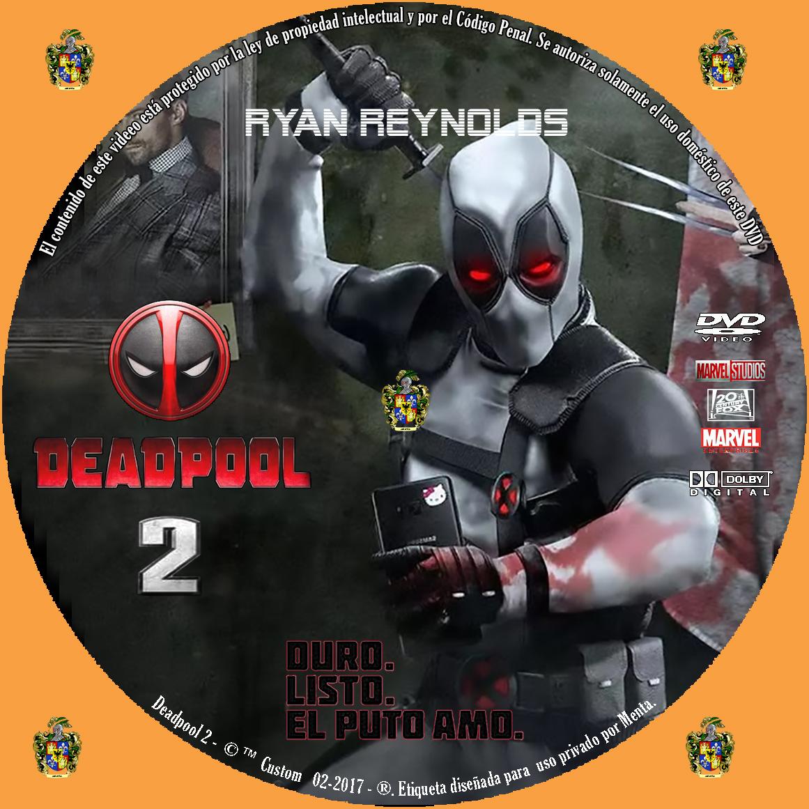 Caratulas Y Etiquetas Deadpool 2