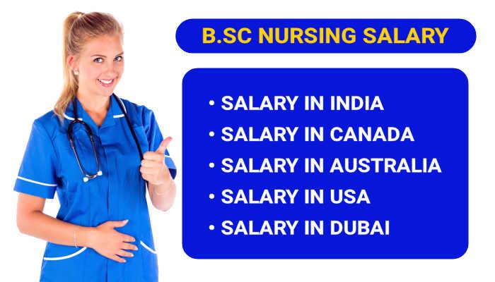 Salary of BSc Nursing in India, Canada, USA, Australia and Dubai 2021