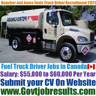 Boucher and Jones Fuels Fuel Oil Truck Driver Recruitment 2021-22