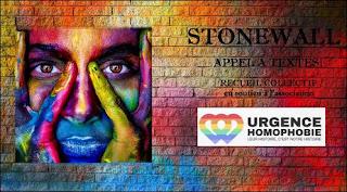 Illustration de l'appel à textes pour le projet de recueil Stonewall