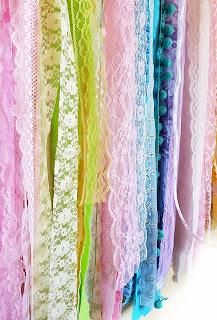 vintage lace boho garland, handmade by refabulous