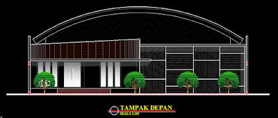 Desain Lapangan Futsal Lengkap Dengan Potongan Dwg