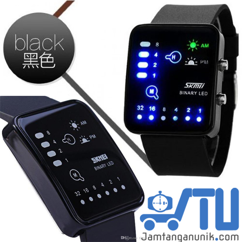 led watch SKMEI jam tangan unik binary