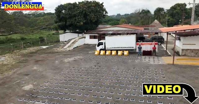 GNB encontró 399 panelas de cocaína escondidas en un camión de contrabandistas