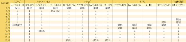 資産運用遍歴(2019年為替)