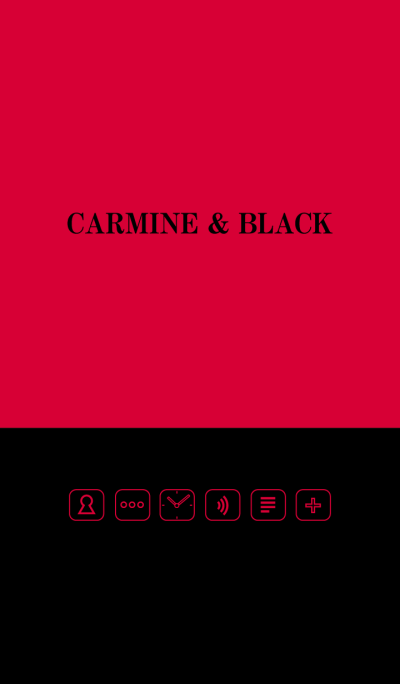 Carmine & Black