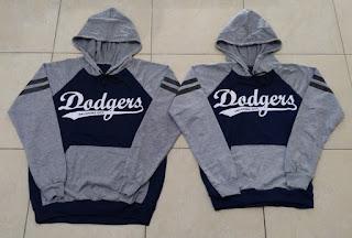 Jual Online Jumper Dodgers Couple Murah Jakarta Bahan Babytery Terbaru
