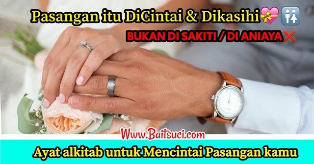 Ayat alkitab untuk Mencintai Pasangan kamu