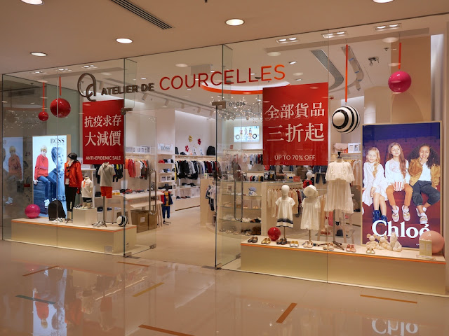 Atelier de Courcelles shop at Harbour City in Hong Kong