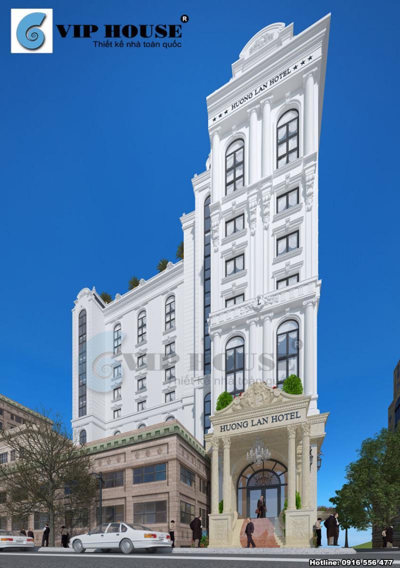 Hình ảnh: Các đặc trưng chuẩn Pháp được phô diễn tinh tế trong thiết kế khách sạn 2 mặt tiền tại Quy Nhơn