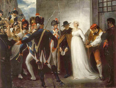 Marie Antoinette Being Taken to Her Execution by William Hamilton, 1794