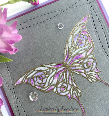 sympathy card | handmade card | clear stamps | butterfly | blogs for boobies | cancer fundraiser | susan g komen foundation | kimpletekreativity.blogspot.com|