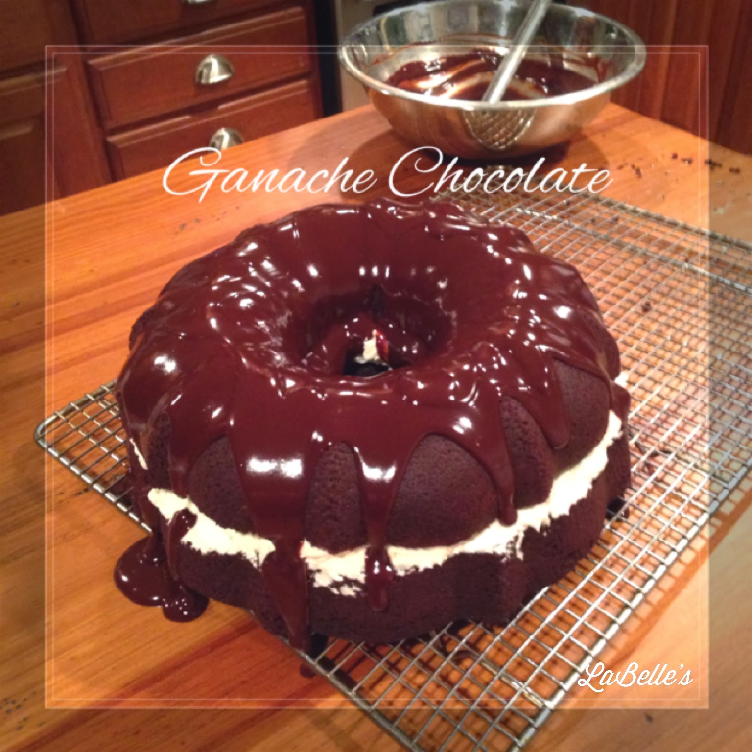 Ganache chocolate is the perfect accompaniment to Bundt Cake, especially Devil Dog Bundt Cake