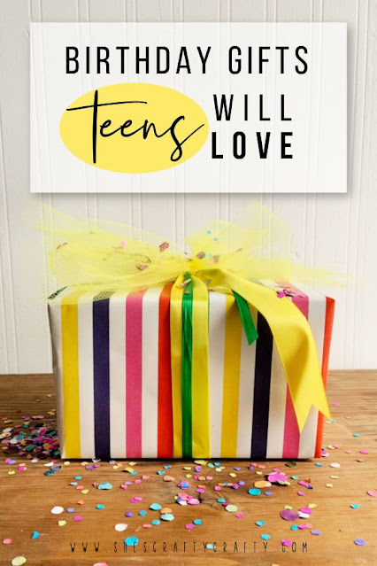 Birthday Gifts Teens will love, birthday gift with confetti.