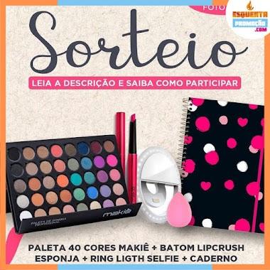 SORTEIO - Paleta de Sombras Profissional 40 Cores For You Makiê