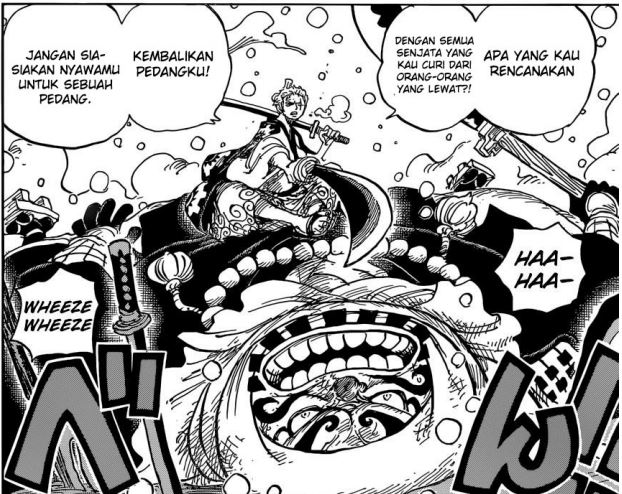 Review One Piece Chapter 952 - Zoro vs Gyukimaru
