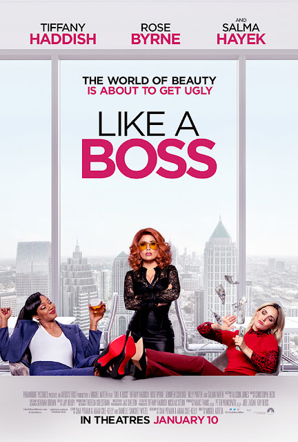 "Paramount Pictures presents the movie poster for ""Like a Boss"" (2020), starring Tiffany Haddish, Rose Byrne, Salma Hayek, Billy Porter, Jennifer Coolidge, and Karan Soni"