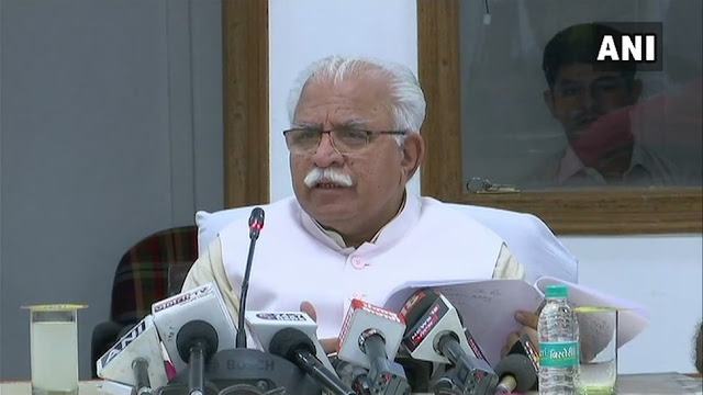 Namaz should be read in Mosques or Idgahs rather than public spaces: Haryana CM Manohar Lal Khattar