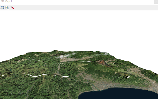 DEM 3D with satellite imagery overlay
