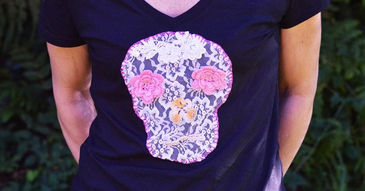 Maize Hutton: Lace Skull Tee DIY