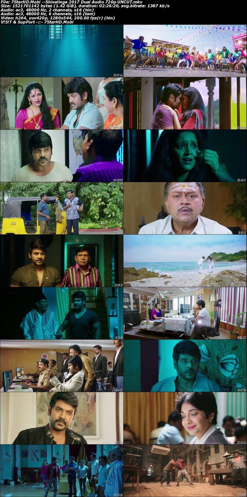 Shivalinga 2017 Dual Audio South Hindi Dubbed Full Movie 450MB UNCUT HDRip 480p x264 ESubs Download