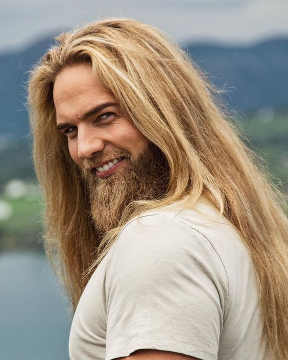 long haired man