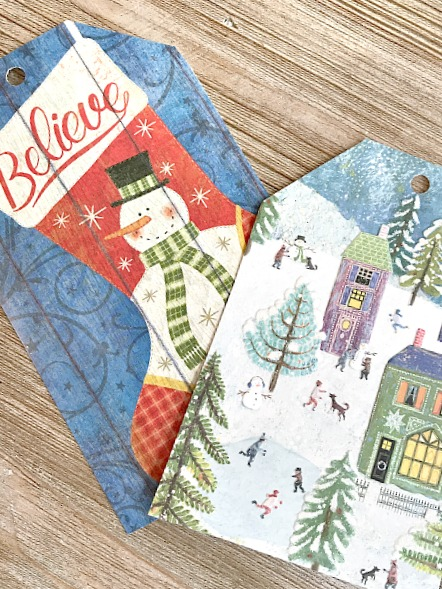 Christmas cards recycled for one more year