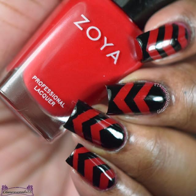 Nail Crazies Unite Day 24 - Red & Black