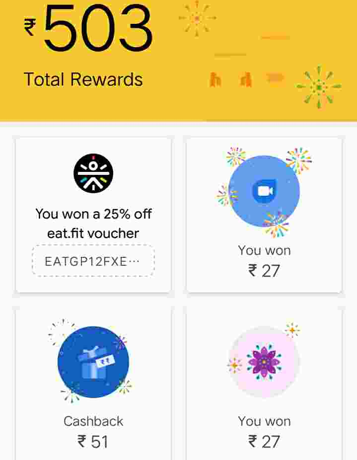 Google pay scratch cards