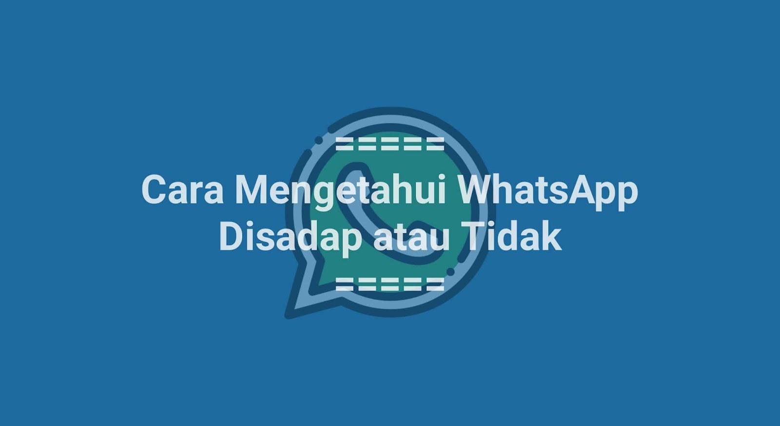 Cara Mengetahui WhatsApp Disadap atau Tidak