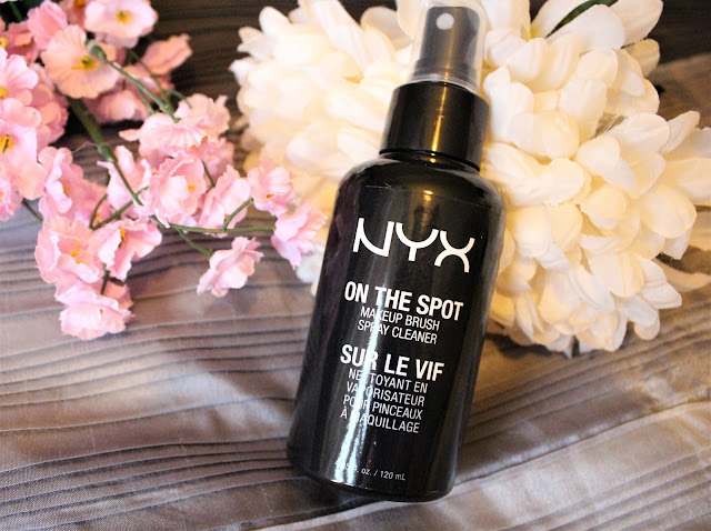 nyx on the spot makeup brush cleaner spray