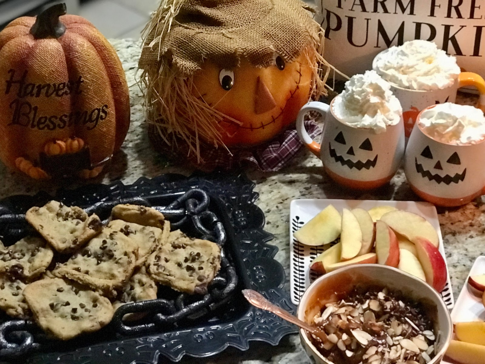 Tangie Bell sharing how she decorated her Halloween Dessert Bar at Home.