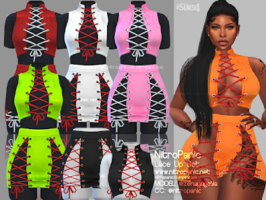 Lace Up Set for The Sims 4
